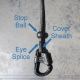 Eye Splice / Single braid + Cover Sheath + Ball