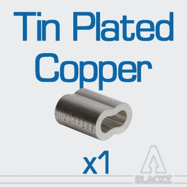 Swaging Oval Sleeves, Tin Plated Copper NICOPRESS - unit