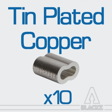 Swaging Oval Sleeves, Tin Plated Copper NICOPRESS - pack 10