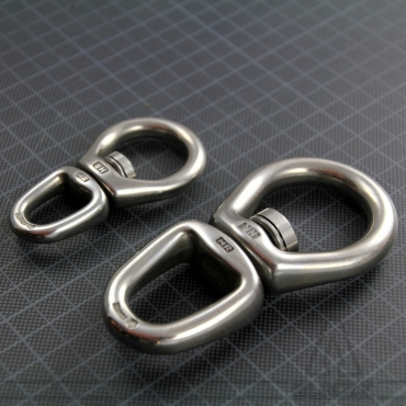 Swivel / double ring / with long ball bearing 80