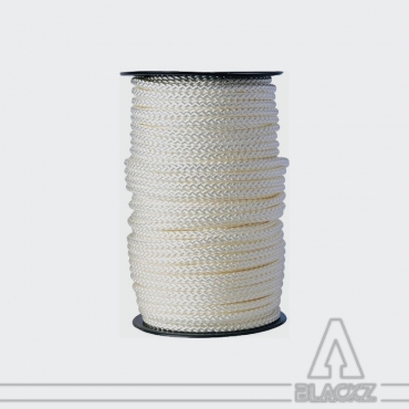White Polyester Braid 4mm - spool
