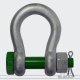 Standard Shackle Green Pin® bow shackles 2 t