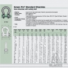 Standard Shackle Green Pin® bow shackles 6,5 t