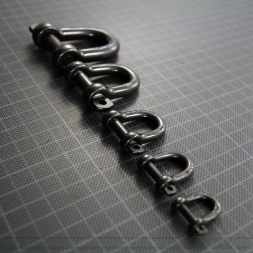 D Shackle self-locking 4mm