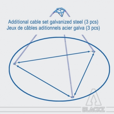 Option galvanized Steel Wire for Tripod