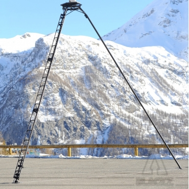 Modified Truss Pole TRIPOD 6m Black
