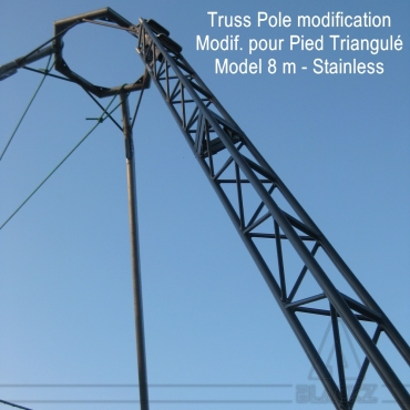 Modified Truss Pole TRIPOD 8m Stainless