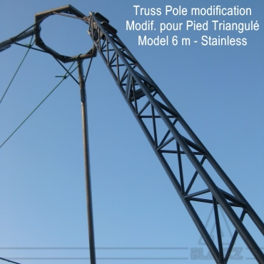 Modified Truss Pole TRIPOD 6m Stainless