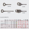 V chain double belay PITON PLX Stainless