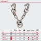 V chain double belay PLATE PLX Stainless