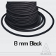 Black Elastic Shock Cord 8 mm