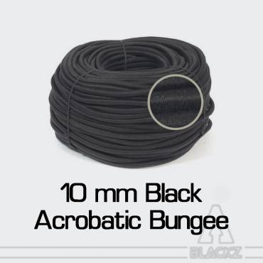 Black Acrobatic Bungee 10 mm with cotton sheath