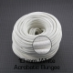 White Acrobatic Bungee 10 mm with cotton sheath