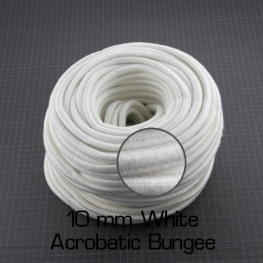 Elastique Acrobatique 10 mm Blanc gaine cotton