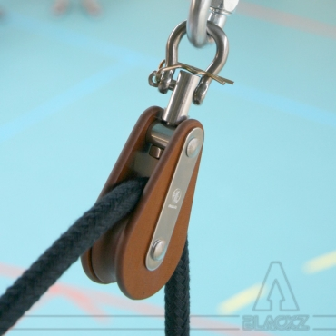 SINGLE Pulley Celeron 50 mm - Poulie SIMPLE Celeron 50 mm CircusSchool CircusSafety AcrobaticRigging SafetyLines