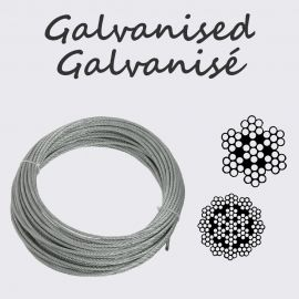 Galvanised wire ropes